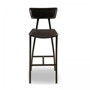 metal-and-leather-high-bar-stool - bar-furniture