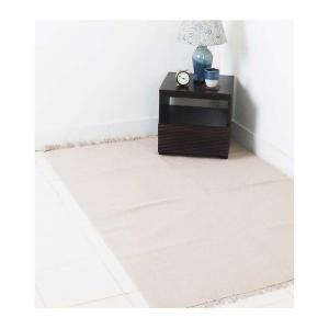 cotton-woven-dhurrie-beige - rugs-and-carpets