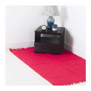cotton-woven-dana-fuschia-dhurrie - rugs-and-carpets
