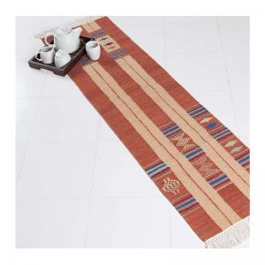woven-wool-keta-rust-floor-runner - rugs-and-carpets