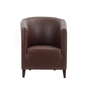 faux-leather-dark-hued-tub-chair - ficus-fine-living