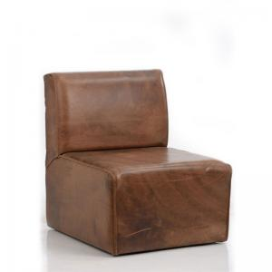 brown-block-pure-leather-chair - ficus-fine-living
