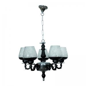 black-and-silver-gothic-5-light-aluminium-chandelier - chandeliers