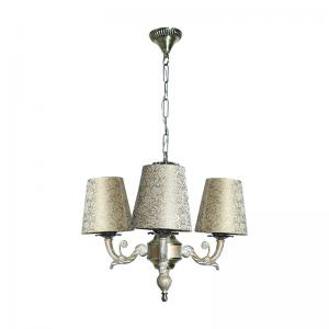 golden-white-3-light-mini-chandelier-in-brocade-shades - chandeliers