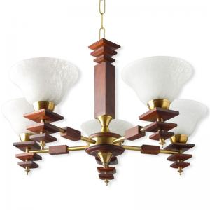 dolphin-rose-wood-finished-5-light-energy-saver-chandelier - chandeliers