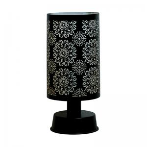 flower-mesh-cylinder-table-lamp - table-lamps