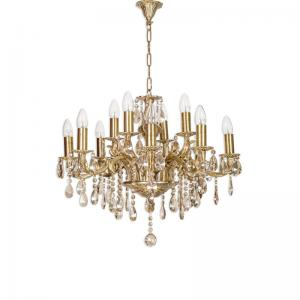 candle-lamp-12-light-honey-crystal-chandelier - fos-lighting