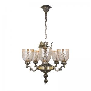 elegant-golden-betel-leaf-aluminium-chandelier - fos-lighting
