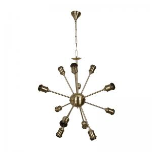 cosmic-rays-12-light-antique-gold-chandelier - chandeliers