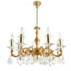 sp-crystal-and-brass-8-light-candle-chandelier - fos-lighting