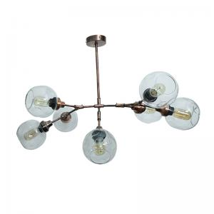 branching-8-light-antique-copper-chandelier - fos-lighting