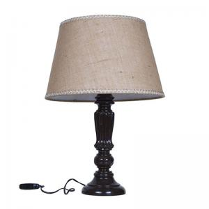 brown-distressed-country-table-lamp-with-jute-lace-shade - table-lamps