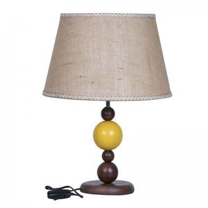 yellow-ball-wood-table-lamp-with-jute-lace-shade - table-lamps