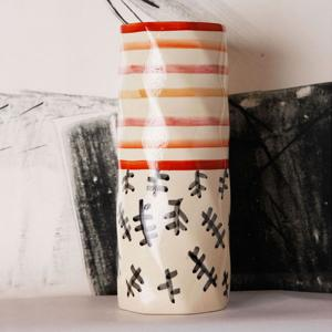 mohur-cylindrical-vase-coral-and-peach - vases-and-planters
