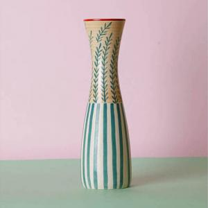 mohur-hourglass-vase-seagreen - vases-and-planters