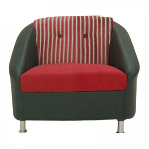 mexico-sofa-one-seater-red-black - sofas-and-recliners
