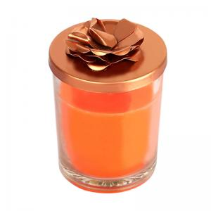 rose-scented-candle-orange - candles-and-fragrances