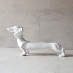 jeremy-dachshund-sculpture-matte-white - statues-sculptures-and-artifacts