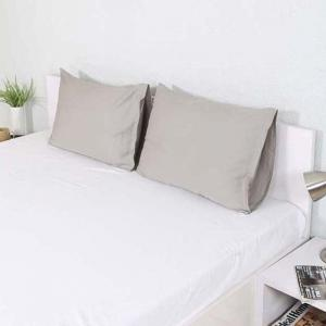 cement-grey-cotton-2-pillow-covers-18-x-28 - bed-linen