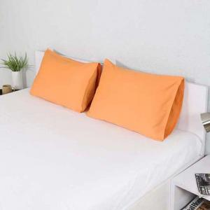 decemblem-orange-cotton-2-pillow-covers-18-x-28 - bed-linen
