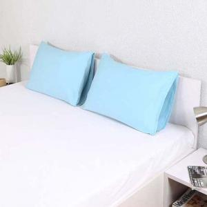 northpole-cotton-2-pillow-covers-blue-18-x-28 - bed-linen