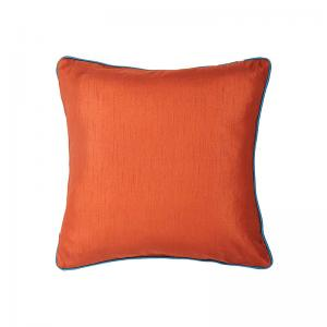 plain-cushion-cover-rust-orange-with-teal-cord-piping - kids-decor