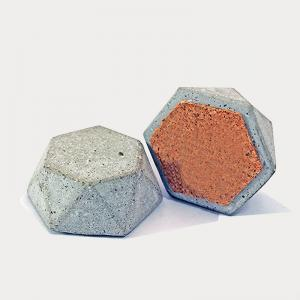 hex-concrete-paper-weight - desk-decor