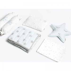 sleepy-star-blue-crib-set-with-quilt - kids-bed-and-bath
