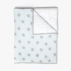 sleepy-star-blue-organic-quilted-blanket-with-quilt - kids-bed-and-bath