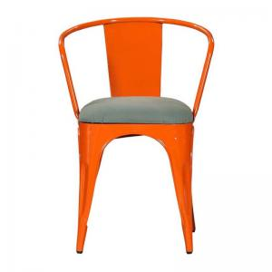 iron-chair-with-cushion-orange - chairs