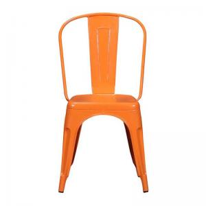 iron-chair-orange-finish - chairs