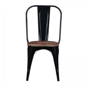 iron-chair-black-finish-with-wooden-seat - chairs