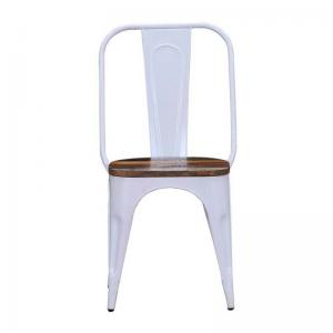 iron-chair-white-finish-with-wooden-seat - chairs