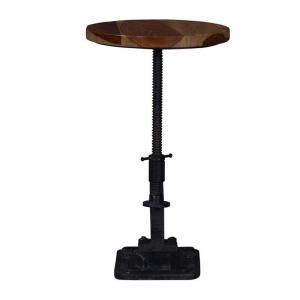 iron-wooden-stool - bar-furniture
