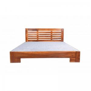 rosewood-sheesham-single-sized-bed-brown - beds