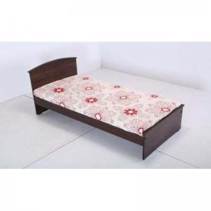 wood-single-sized-bed-brown - beds