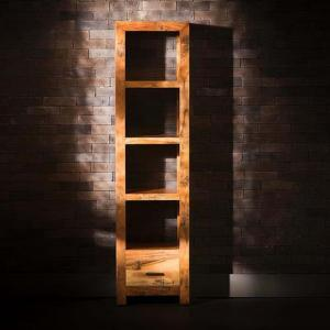 andie-1-drawer-bookcase-made-of-acacia - book-cases