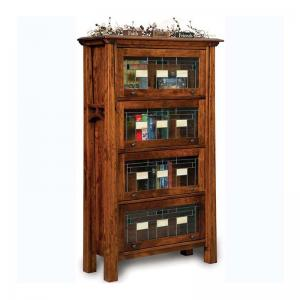 barrister-bookcase-in-oak-finish - book-cases