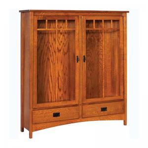 double-door-bookcase-brown - book-cases