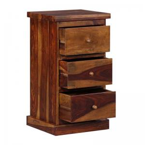 tower-chest-of-three-drawers-in-provincial-teak-finish - chest-of-drawers