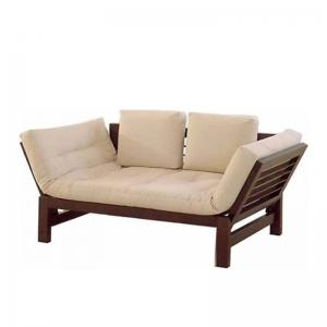 wood-sofa-cum-bed-brown-with-mattress-and-cushions - sofa-cum-beds-and-futons