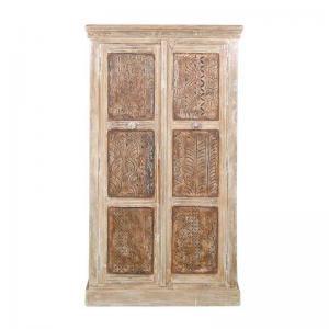 solid-wood-wardrobe-in-distress-finish - wardrobes