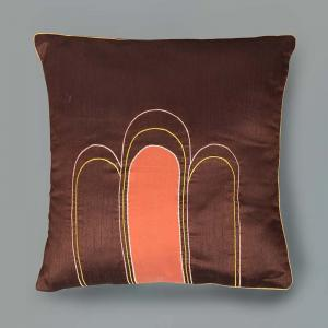 strasbourg-cushion-cover-embroidered-brown - cushions-and-pillows