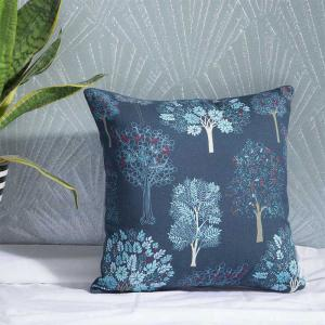 acadia-blue-cotton-printed-cushion-cover - cushions-and-pillows