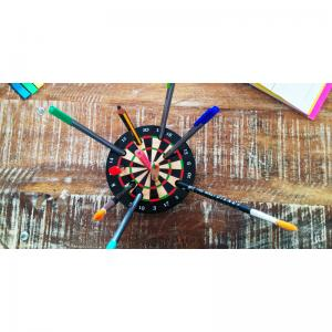bulls-eye-pen-stand - desk-decor