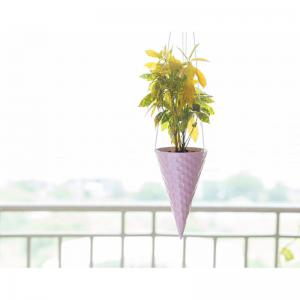 ice-cream-cone-planter-strawberry - vases-and-planters