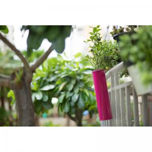 hang-on-balcony-planter-hot-pink - vases-and-planters