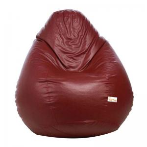 sattva-classic-xl-bean-bag-cover-maroon - bean-bags