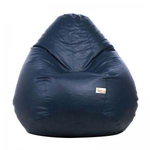 sattva-classic-xl-bean-bag-cover-navy-blue - bean-bags