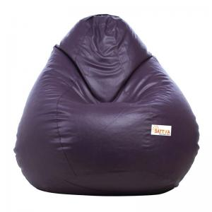 sattva-classic-xl-bean-bag-cover-purple - bean-bags